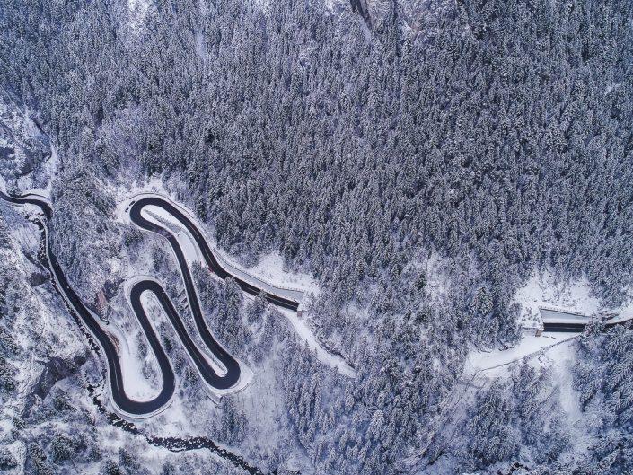Iarna în Cheile Bicazului